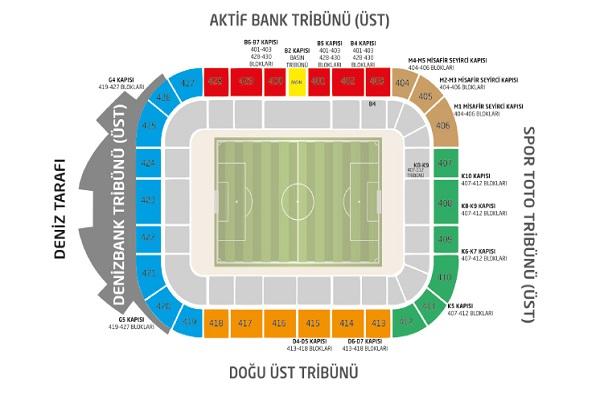 Beşiktaş Stad { Tribün } Oturma Planı