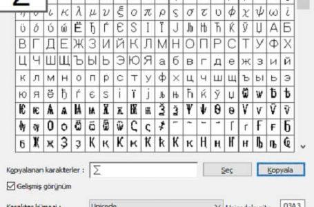Klavyede Sigma { Σ } işareti nasıl yapılır?